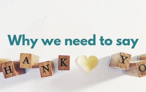 Why We Need to Say Thank You