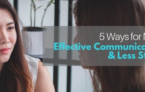 EFFECTIVE COMMUNICATION & LESS STRESS