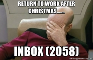 Returning to work after Christmas Emails